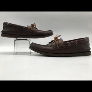 Sperry TopSider Brown Leather Boat Shoe Size 10 M